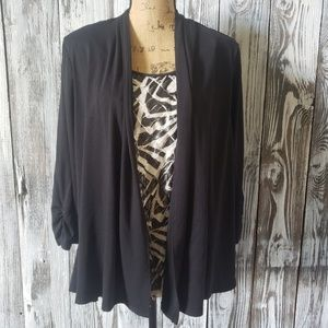NWT Notations layered blouse J